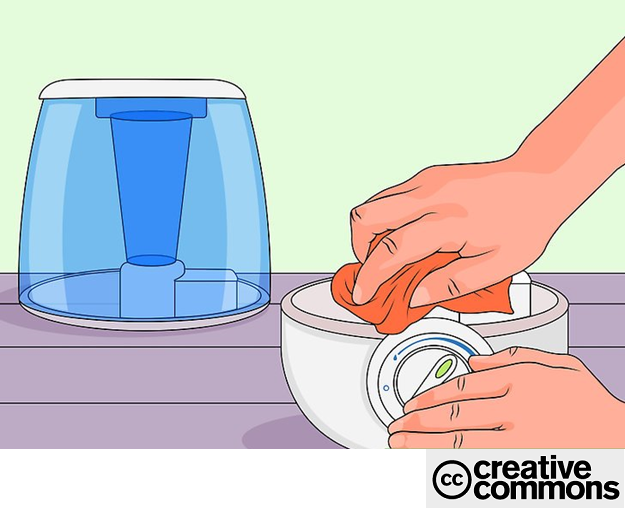 Ensure the humidifier is clean